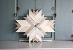 Large Geometric Wall Clock - Tribal Design -Rustic  - Mid Century - Wood