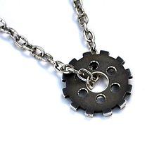 engine parts – Etsy Men's Jewelry Rings, Jewelry Ideas, Gothic Jewelry, Gears, Cufflinks, Handmade Jewelry, Jewelry Design, Pendants, Sterling Silver