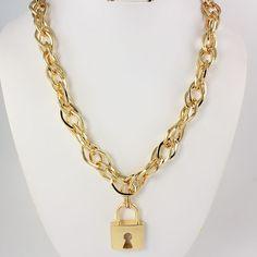 Celebrity Style Minaj-Inspired Lock Necklace