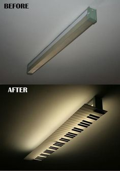 A lamp renovation for a piano player's studio
