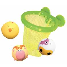 Badeleg - Basketnet med bolde