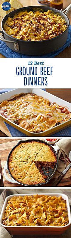 Splendid 12 Best Ground Beef Dinners – Beef up your dinner tonight with these quick and easy recipes. The post 12 Best Ground Beef Dinners – Beef up your dinner tonight with these quick and easy recipes…. appeared first on Lully Recipes . Crock Pot Recipes, Hamburger Recipes, Cooking Recipes, Oven Recipes, Dinner Recipes, Chicken Recipes, Healthy Recipes, Recipies, Shrimp Recipes