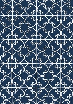 CERNOBBIA EMBROIDERY, Navy, W714201, Collection Imperial Garden from Thibaut