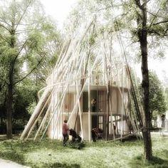 Sticks by Djuric Tardio Architectes ... Mass produced nurseries intended for Paris' park spaces