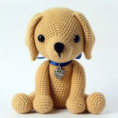 This cute lucky puppy amigurumi is just 15 cm tall. It's a perfect gift for dog lovers. The difficulty range of the Lucky Puppy Amigurumi Pattern is medium.