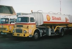 Shell Bedford & Leyland Airport Tankers, Christchurch Airport 1985. Image via Flickr