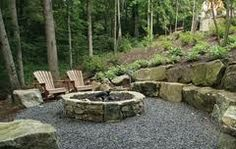 garden with fire ring - Google Search