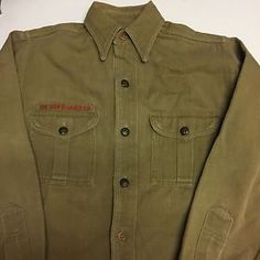 Vintage 1960s Boy Scout Shirt / XS - S / 1960s Boy Scout Shirt / 60s Boy Scout Shirt / Vintage Boy Scout Shirt / BSA / BSA Shirt / Idaho ySraT