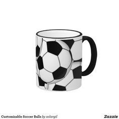 Customizable Soccer Balls Ringer Coffee Mug