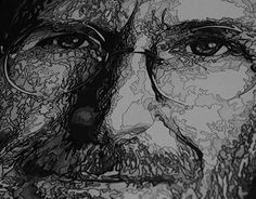 "Check out new work on my @Behance portfolio: ""Steve Jobs"" Stippling Dotwork"