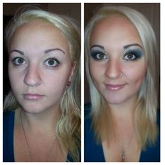 How is this for a BEFORE  AFTER with Younique Moodstruck cosmetics!! Younique is the fastest growing home based business! Join my TEAM!  Younique Make-up Presenters Kit! Join today for only $99 and start your own home based business. Do you love make-up?  So many ways to sell and earn residual  income!! Your own FREE Younique Web-Site and no auto-ship required!!! Fastest growing Make-up company!!!! Start now doing what you love! www.youniquebydeena.com