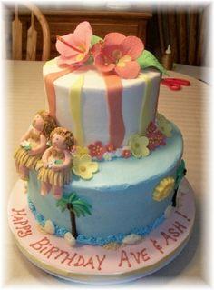 SO CUTE!! - Bobbie's Cakes and Cookies: Aloha! A Luau and Hula Girls