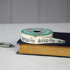 Vintage Crafts Cotton Ribbon Musical Notes   dotcomgiftshop   Winter Sale Now On