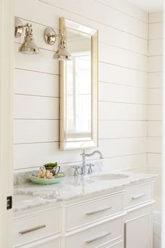 Paint Colors: 5 Favorites for Shiplap Sharing the 5 best white paint colors to paint shiplap. See if your favorite made the list!Sharing the 5 best white paint colors to paint shiplap. See if your favorite made the list! Best White Paint, White Paint Colors, White Paints, White Bathroom Paint, Bathroom Paint Colors, Bath Paint, Warm Bathroom, White Bathrooms, Small Bathroom