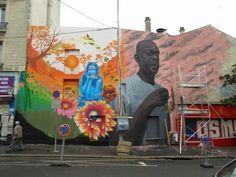El Parisino- Street art in Paris, France, by Milu Correch