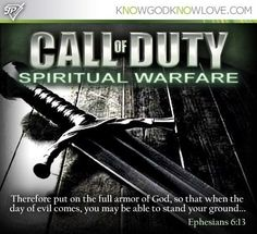 Call of Duty: Spiritual Warfare Sometimes I don't want to fight..just crawl into a foxhole and rest :)