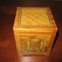 Vintage Wooden Inlaid Cigarette Dispenser Box with NBC Logo antique appraisal | InstAppraisal
