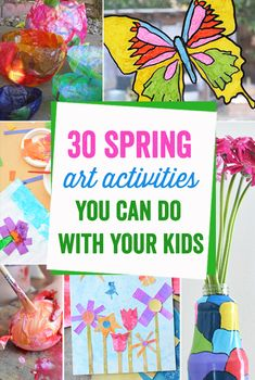 These art activities are amazing! There is something in here for crafty moms and not so crafty moms like me!, plus ideas for kids of all ages.  Great round up!