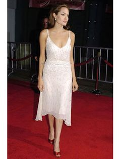 Angelina Jolie Style white sequins