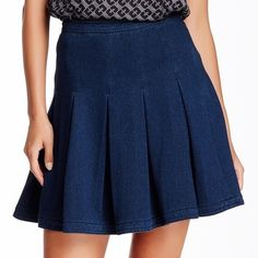 DVF Gemma Pleated Stretch Denim Skirt 🌷Please Read the description! Thanks!🌷  Brand new with tag Size: 10 Retail: $328 The Gemma. Side zip. Falls low on the hips. In denim. Falls to mid thigh.   🌷Price is FIRM unless bundled 🌷NO Trades         🌷NO Holds 🌷All sales are final Welcome product-related questions! You are responsible for your size. Diane von Furstenberg Skirts