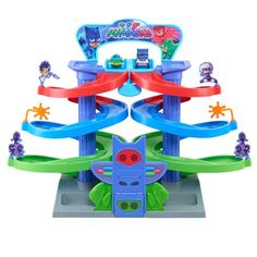 PJ Masks Nighttime Adventures Die Cast Car Spiral Track Playset Glow-In-The-Dark Hot Toys Iron Man, Paw Patrol Toys, Toddler Boy Gifts, Toy Story Cakes, Pj Mask, All Toys, Kids Store, Imaginative Play, Toy Boxes