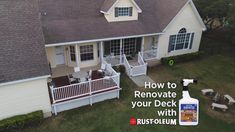Rust-Oleum's Renovator line saves time and money while adding instant curb appeal to your outdoor spaces. These quick and easy, affordable DIY seasonal solutions update your deck, fence, grass or mulch and only take minutes to apply.