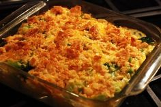 Chicken Broccoli and Rice Dish cheese with ritz crackers | Broccoli Chicken and Rice Casserole