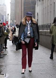 layers upon layers. lesson of the season when it comes to toppers. the more the merrier. #NYFW