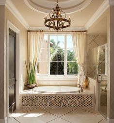 17 chic cream curtains for a refined bathroom - Shelterness