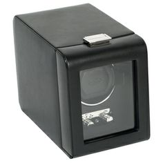 Heritage Module 2.1 Black Leather Single Watch Winder | Overstock.com Shopping - Big Discounts on Wolf Designs Watch Winders