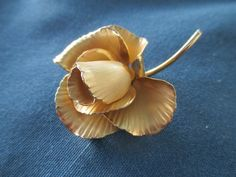 Vintage Sarah Coventry Gold Tone Rose Brooch Marked by BitofHope, $18.50