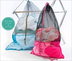 Mesh Laundry Bags in Two Sizes   Sew4Home
