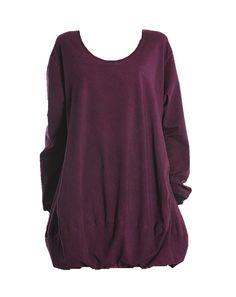 Barbara Speer Lagenlook lange Tunika Kleid Shirt in lila old look XL Mode bei www.modeolymp.lafeo.de