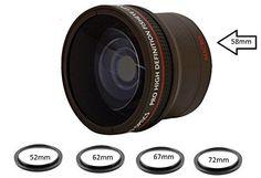0.16X Ultra-Wide Fisheye Converter Lens w/ Macro Attachment For D3100, D3200, D3300, D5000, D5100, D5200, D5300, D5500, D7000, D7100, D7200, D90, D300, D500, D600, D610, D700, D750, D800, D810 DSLR