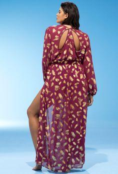 GabiFresh  x Swimsuits For All Burgundy Firework Dress | Swimsuits For All
