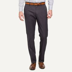 Taylor Easy-Care Trousers in Charcoal   Frank & Oak
