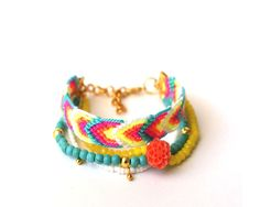 Multi Strand Friendship Bracelet. by makunaima on Etsy, $21.90