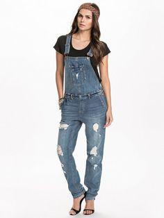 Vmnew Orson Denim Overall - Vero Moda - Medium Blue - Jumpsuit - Clothing - Women - Nelly.com