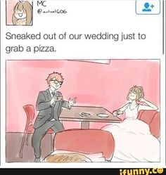I would actually do this at my real wedding
