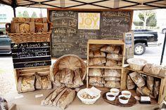 Farmer's Market Sunne Joy Bread Co. Bakery Display in downtown Pensacola #eatlocal http://ourfarmjourney.com/oregon-farmers-markets/