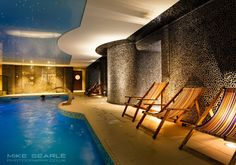 The Headland Hotel Newquay in Cornwall, new spa and pool.