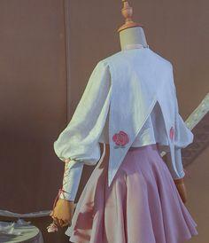 This Cardcaptor Sakura Sakura Kinomoto Sweet Lolita Maid Dress Cosplay Costume is made of elegant and gorgeous design style, very beautiful. Sakura Kinomoto, Sakura Sakura, Japan Sakura, Cosplay Outfits, Cosplay Costumes, Casual Fall Outfits, Cute Outfits, Kawaii Dress, Chica Anime Manga