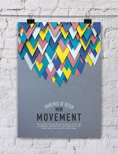 MOVEMENT - Turkish designer, Efil Türk has given us a beautiful collection of hand made posters detailing the elements of design. Using a combination of techniques such as paper cutting and photo manipulation, she's provided us with a delightful series that isn't afraid to both enchant and educate.
