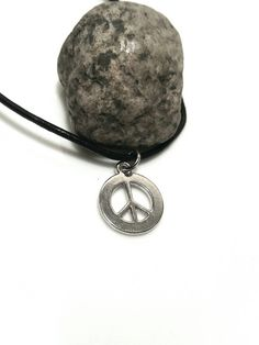Peace Sign Necklace Hippie Jewelry Teen Girl by AbsoluteJewelry