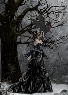 Welcome to the online artwork gallery of romantic artist Nene Thomas! Our site features a wealth of information about Nene Thomas, her artwork, and informative Dragons, Dark Gothic Art, Fantasy Cross Stitch, Fantasy Pictures, Fairy Pictures, Pictures Images, Earth Design, Cosplay, Fairy Art