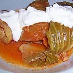 Szabolcsi töltött káposzta II. Recept képpel - Mindmegette.hu - Receptek Thai Red Curry, Pudding, Ethnic Recipes, Desserts, Food, Tailgate Desserts, Deserts, Custard Pudding, Essen
