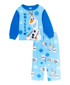 Another great find on #zulily! Frozen Olaf Blue 'Chillin' Microfleece Pajama Set - Toddler by Frozen #zulilyfinds