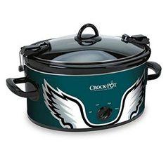 Official NFL Crock-pot Cook & Carry 6 Quart Slow Cooker - Philadelphia Eagles Crock-Pot http://www.amazon.com/dp/B00AK23ATQ/ref=cm_sw_r_pi_dp_Inv0ub0N9KG7R