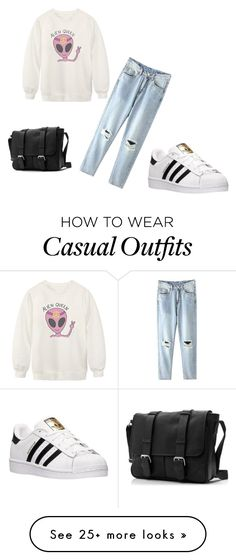 """Casual"" by vanessafernandesbelieber on Polyvore featuring Chicnova Fashion, adidas, women's clothing, women, female, woman, misses and juniors"