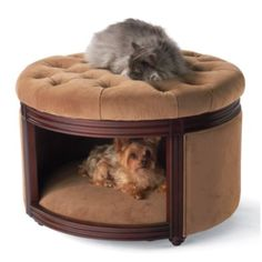 Pet Ottoman Den by Frontgate #dogbed #kennel #chenil #interiordesign - More wonders at www.francescocatalano.it